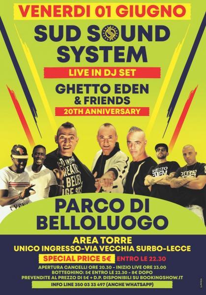 Sud Sound System + Ghetto Eden al Parco di Belloluogo
