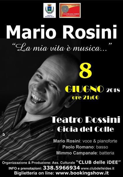 """MARIO ROSINI """"La mia vita è musica…"""" in trio con Mimmo Campanale & Paolo Romano"""