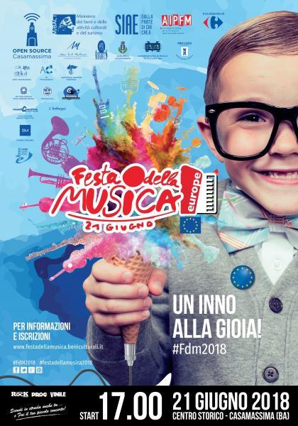 FESTA DELLA MUSICA EUROPEA 2018 a Casamassima