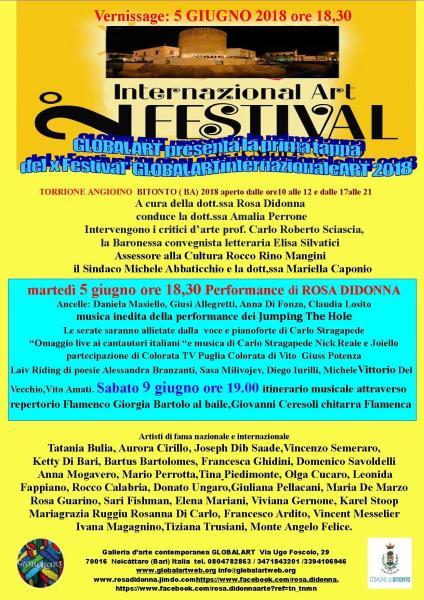 "x Festival""GLOBALARTinternazionaleART""2018"