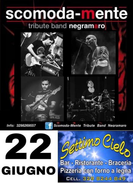 Serata live con SCOMODA-MENTE tribute band Negramaro