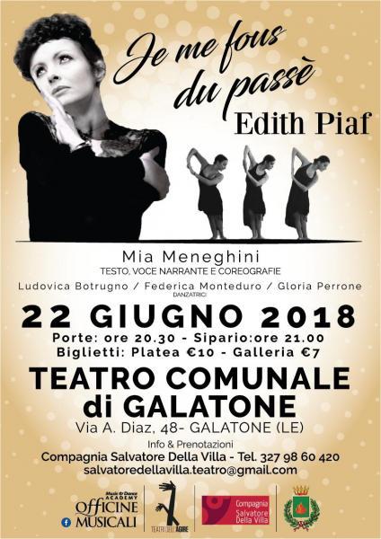 JE ME FOUS DU PASSÉ – Edith Piaf