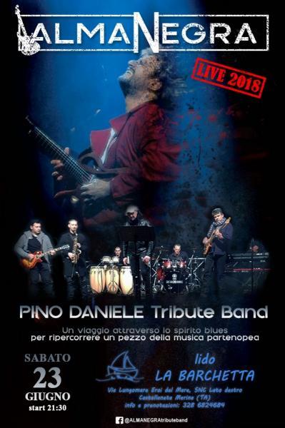ALMANEGRA Pino Daniele Tribute Band al Ristorante LIDO LA BARCHETTA