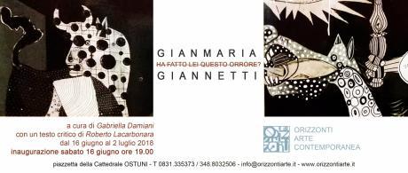 Gianmaria Giannetti. Ha fatto lei questo orrore?