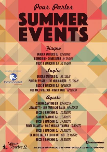 Summer Events, un'estate in musica al Pour Parler di Montemesola