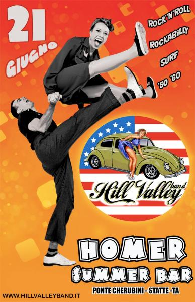 Hill Valley band live all'Homer Summer bar di Statte