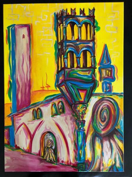 Vesna Pavan in mostra a Vox Animae nella chiesa Santa Maria Gualtieri di Pavia