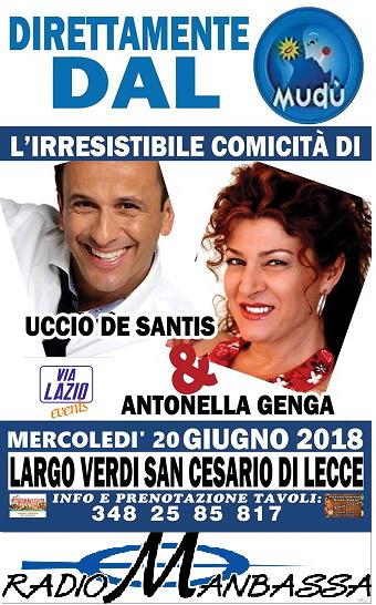 Lo Show di Uccio De Santis & Antonella Genga a San Cesario di Lecce