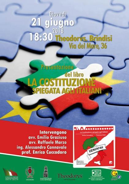 """Presentazione del libro """"La Costituzione spiegata agli Italiani"""