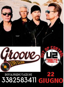 Out of Control U2 Tribute Groove Live Foggia