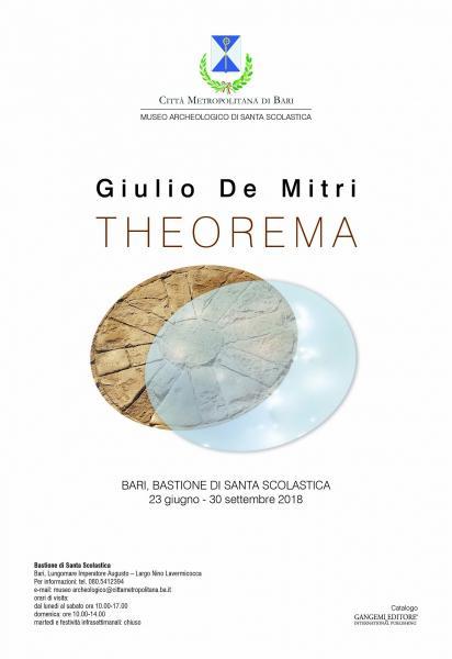 """Giulio De Mitri   """"Theorema"""""""