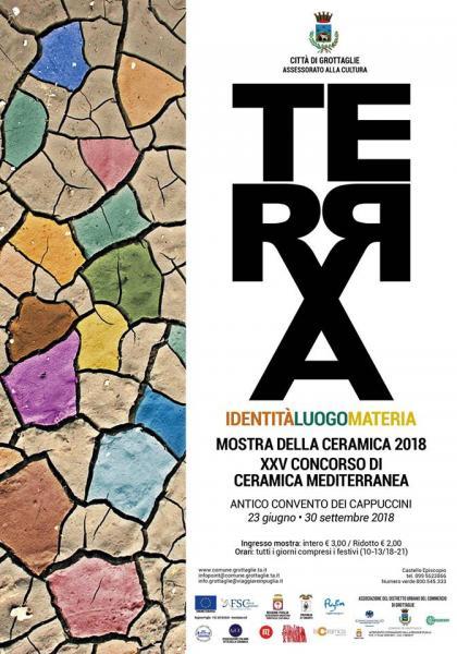 """Mostra della Ceramica 2018 - XXV Concorso di Ceramica Mediterranea """"Terra, identità, luogo, materia"""""""