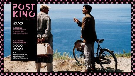 """EVENTO SOLD OUT/PostKino. Oltre il Cinema - Serata di presentazione con proiezione de """"Il Postino"""" e live di Marco Malasomma"""