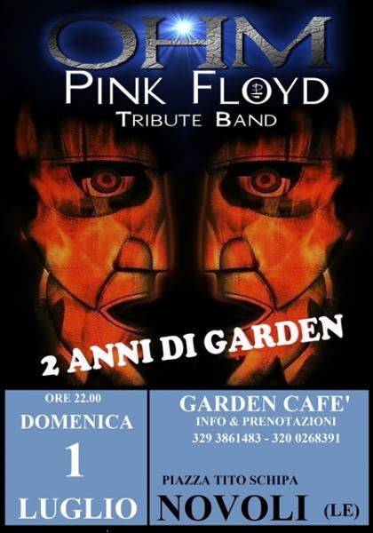 OHM PINK FLOYD LIVE - NOVOLI (LE) - GARDEN CAFE'