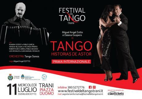"""""""Tango-Historias de Astor""""in prima mondiale a Trani, lo spettacolo ispirato al grande compositore Piazzolla, firmato Miguel Ángel Zotto"""