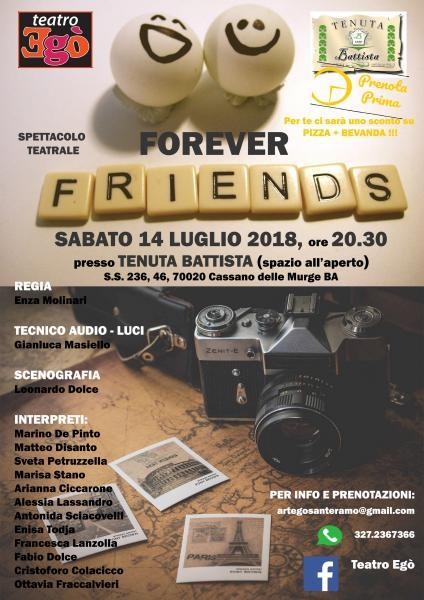 Forever Friends: altro appuntamento targato Egò!