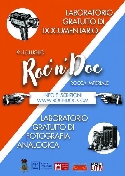Roc'n'Doc - 7 Giorni di Workshops e Laboratori gratuiti sul  Documentario e sulla Fotografia Analogica