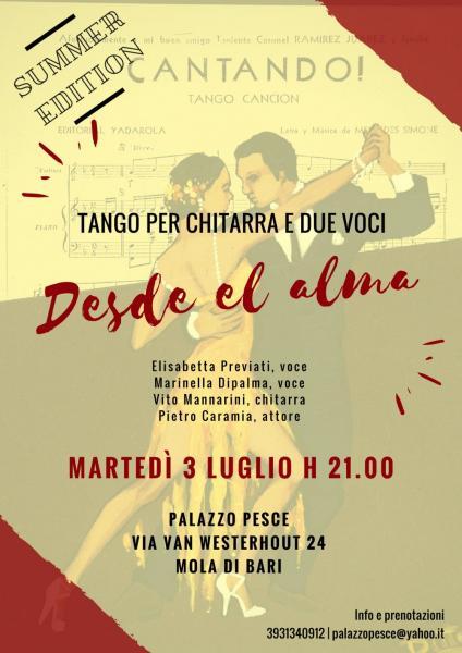 """Desde el alma"" [tango per chitarra e due voci] Summer Edition"