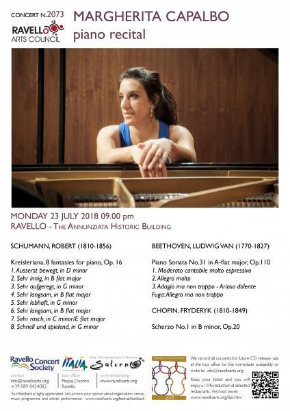 MARGHERITA CAPALBO piano recital