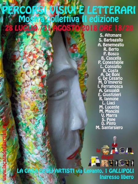 """Mostra collettiva seconda edizione """"PERCORSI VISIVI E LETTERARI"""""""