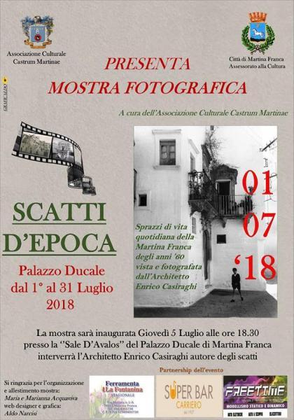 """Mostra fotografica """"SCATTI D'EPOCA"""", a cura dell'architetto Enrico Casiraghi e dell'ass. """"Castrum Martinae"""""""