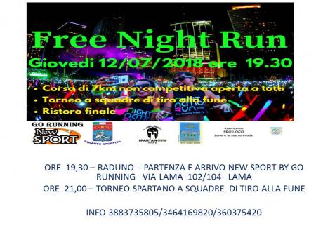 FREE NIGHT RUN