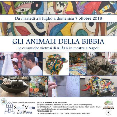 Gli animali della Bibbia - Le ceramiche vietresi di Kláus in mostra a Napoli