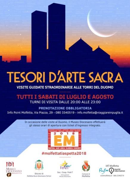 """""""Tesori d'arte sacra 2018. Visita alle torri del Duomo"""""""