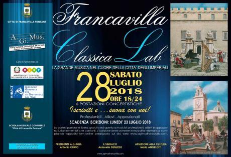 """Stagione Artistica A.gi.mus. Al via """"Francavilla Classica Lab"""""""
