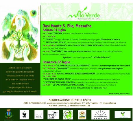 """Rassegna Itinerante """"Filo Verde. Cucire lo sguardo tra arte e natura"""""""