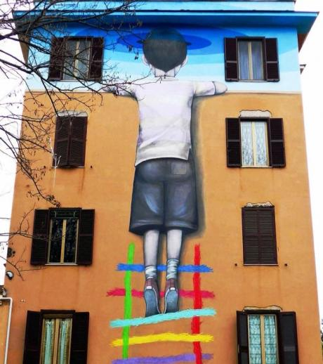 """Street Art a Roma"": BIG CITY LIFE A TOR MARANCIA"