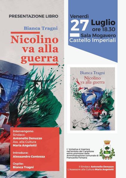 """Bianca Tragni presenta """"Nicolino va alla guerra"""""""