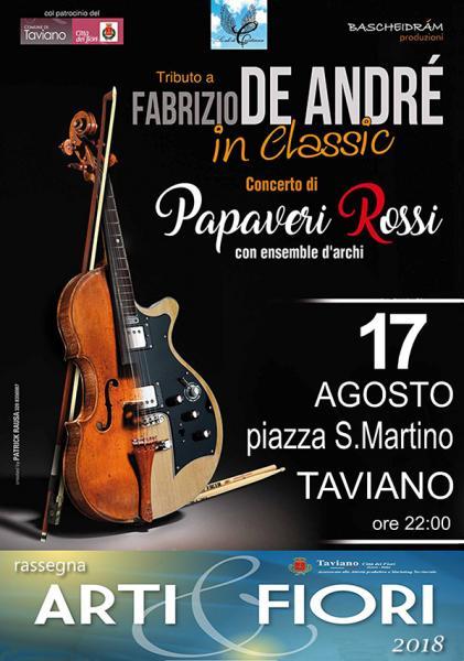 Tributo a Fabrizio De André in classic - PAPAVERI ROSSI