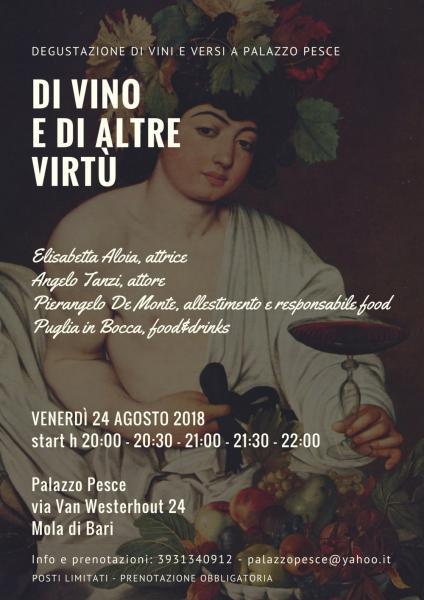 Di vino e di altre virtù [degustazione di vini e versi a Palazzo]