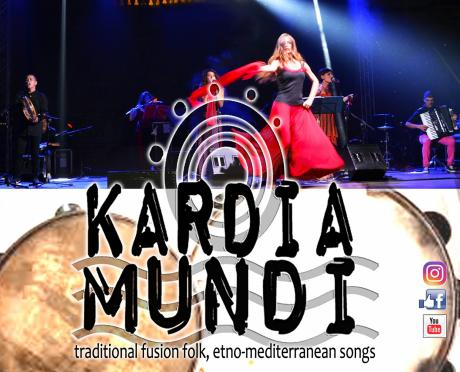 Pizzica e musica popolare mediterranea con i KardiaMundi, mercoledì 8 agosto a La'nchianata di Torricella (Ta).