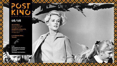 """PostKino. Oltre il Cinema - Doppia proiezione: Gli Uccelli di Alfred Hitchcock, Questa è la mia vita di Jean-Luc Godard + Sammartano """"Rompighiaccio Destiny"""""""