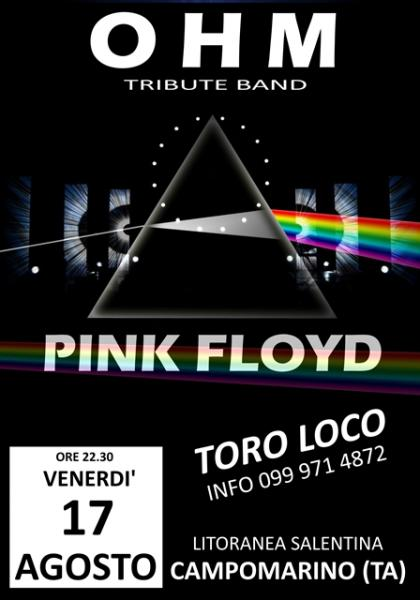 OHM PINK FLOYD LIVE - CAMPOMARINO (TA) - TORO LOCO