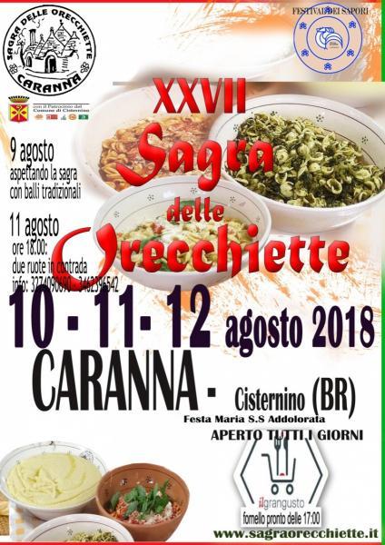XXVII Sagra delle Orecchiette - Contrada Caranna - Cisternino