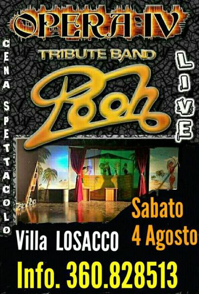 """Nino Losito presenta gli """"OPERA IV° in Tributo ai POOH a Villa LOSACCO Bari (Ex RENOIR)"""