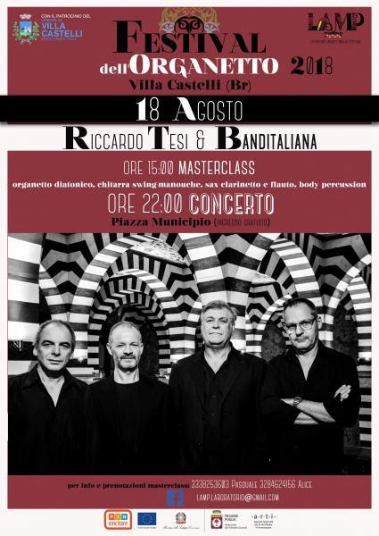FESTIVAL DELL'ORGANETTO 2018 Riccardo Tesi & Banditaliana