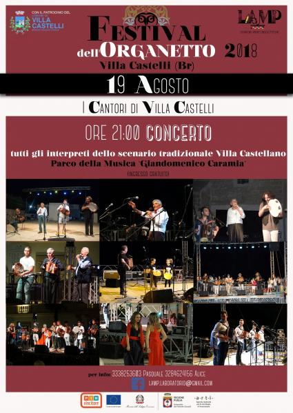FESTIVAL DELL'ORGANETTO 2018 I CANTORI DI VILLA CASTELLI