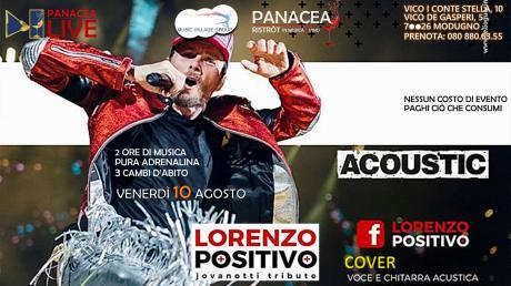 Jovanotti tribute: Lorenzo positivo - 10 agosto | PanaceaLIVE