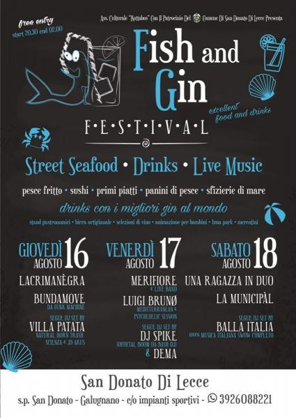 Fish and Gin: tre giorni di gin, street food e musica a San Donato di Lecce