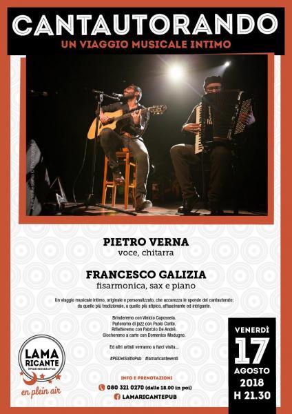 Cantautorando - Un viaggio musicale intimo con Pietro Verna e Francesco Galizia