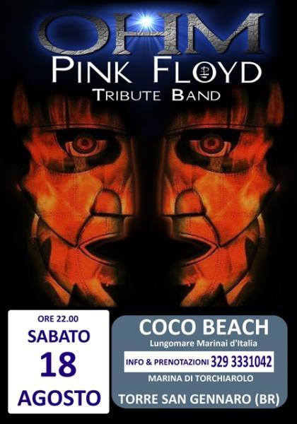 OHM PINK FLOYD LIVE -Torre San Gennaro (BR) - Marina di Torchiarolo - Coco Beach