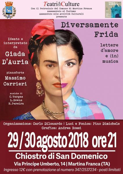 """""""Diversamente Frida"""" - con Giada D'Auria e Massimo Carrieri"""