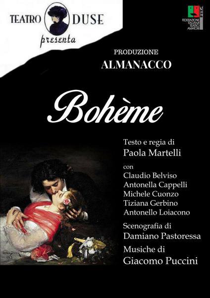 """19^ Ed. Giovinazzo Teatro """"BOHEME """"  Testo e regia di Paola Martelli"""