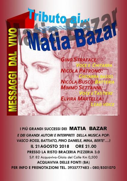 MESSAGGI DAL VIVO - TRIBUTO MATIA BAZAR E MUSICA POP ITALIANA
