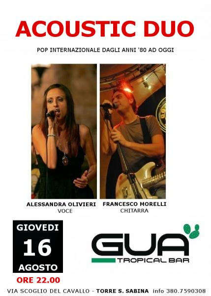 Acoustic Duo live@GUA' Tropical Bar