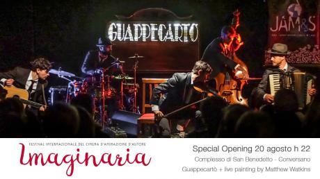 Anteprima festival Imaginaria con Guappecartò in concerto
